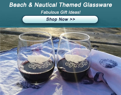 Beach and Nautical Themed Glassware