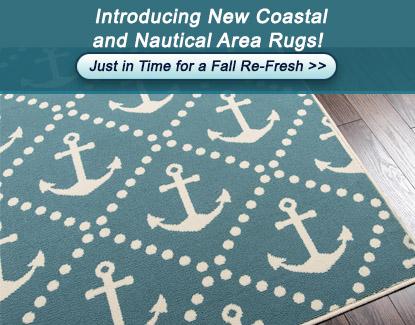 New Coastal and Nautical Area Rugs