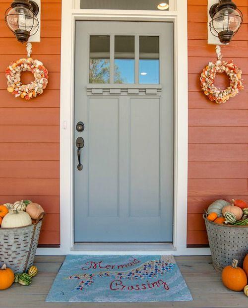 Fall at the Beach - Front Door Ideas! - Caron's Beach House Homes Design Ideas For Autumn Html on