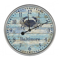 Custom Blue Crab Wall Clock