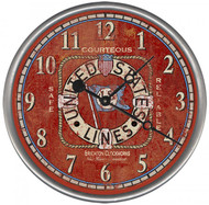 Maritime Shipping Lines Custom Clock