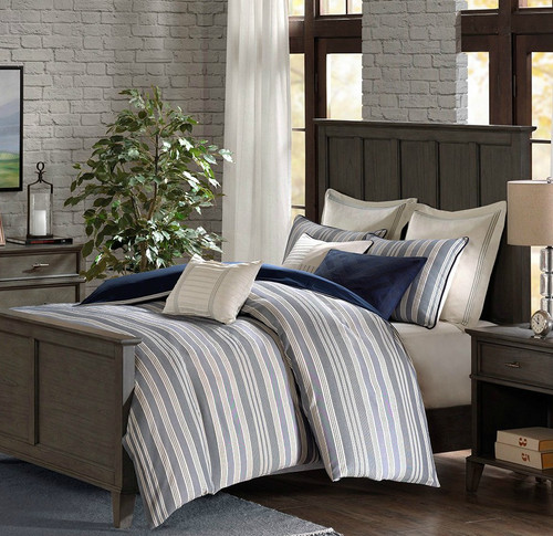 Coastal Farmhouse Comforter King Size 9-piece Bedding