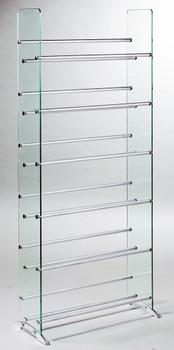 Clear Glass CD/DVD Storage Rack ...