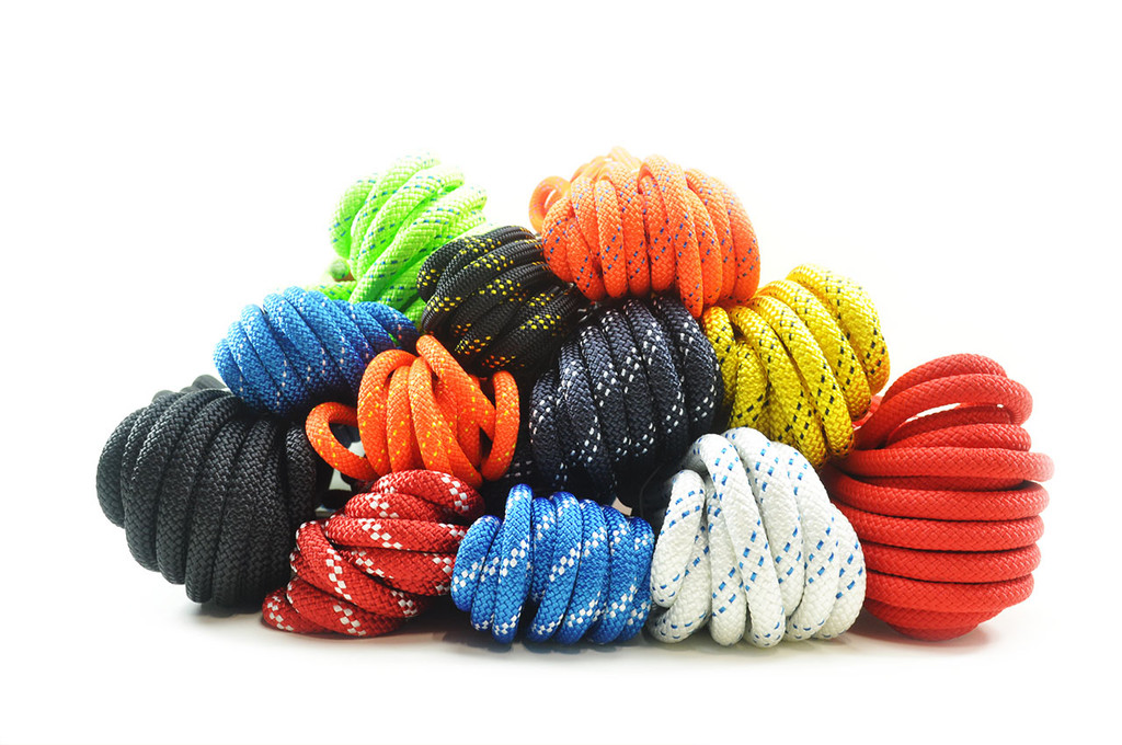 Static kernmantle rope closeout