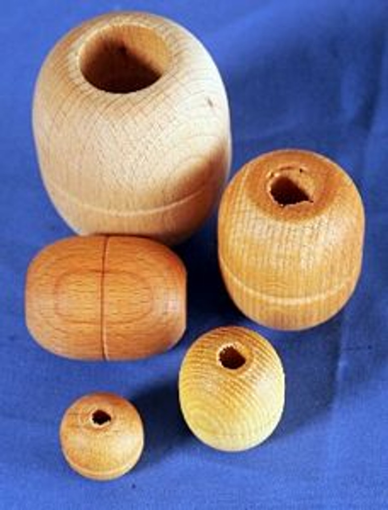 Parrel Beads. Ash treated with linseed oil.