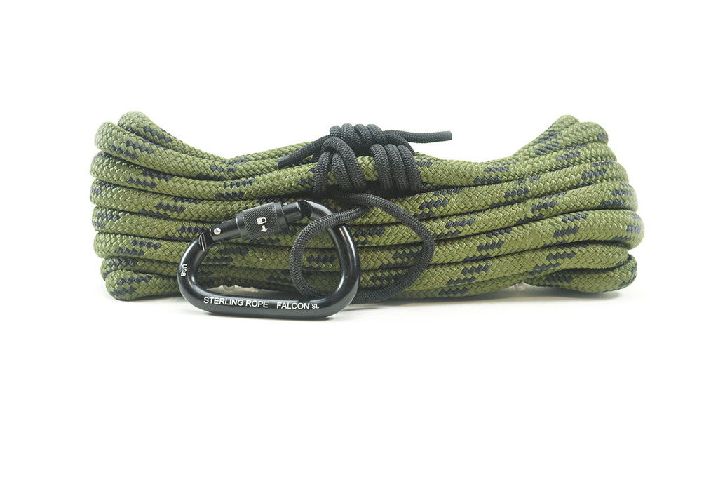 Tree stand kit-Double braid rope, prusik and carabiner