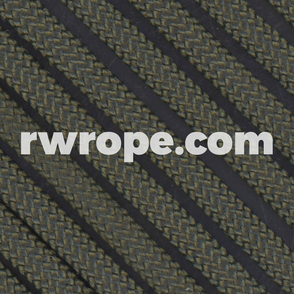 650 Flat Coreless Paracord in Olive Drab.