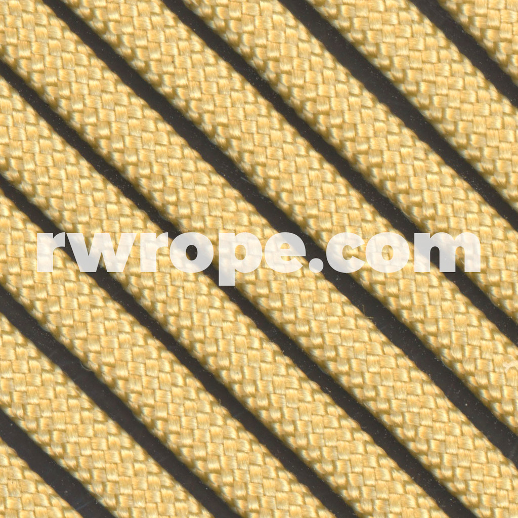 650 Flat Coreless Paracord in gold.