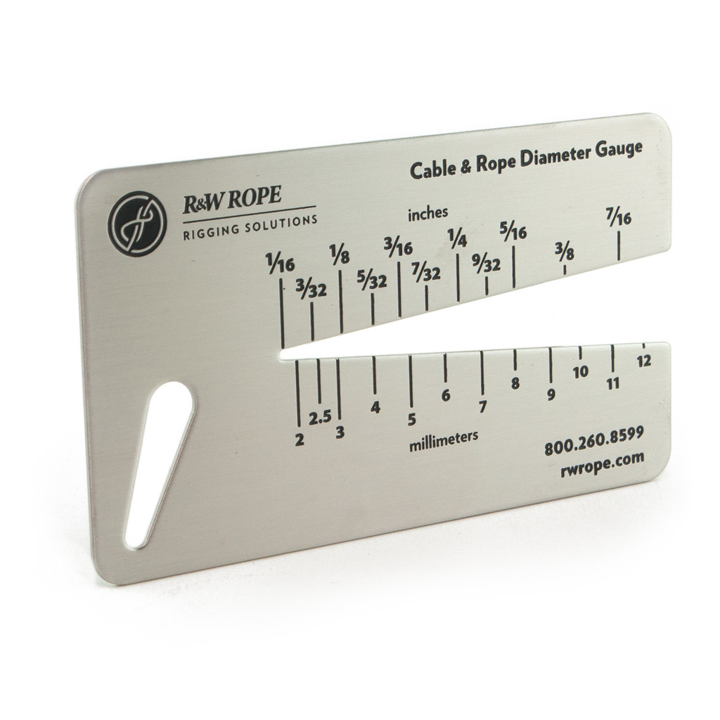 Cable and Rope Size Gauge