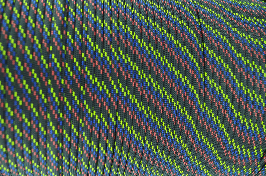 Paracord 550 Closeout 1000 Ft. Spool- Black w/ Yellow, Blue, and Red