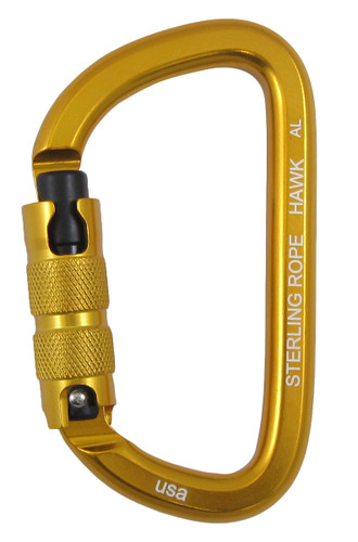Sterling Hawk Autolock Asymmetrical D Carabiner