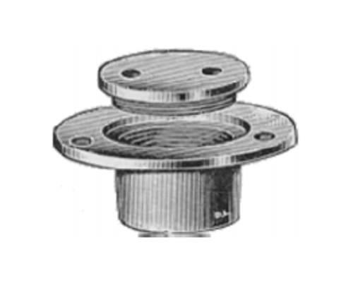 Bronze Deck Filler Deck Screw - Threaded Spigot