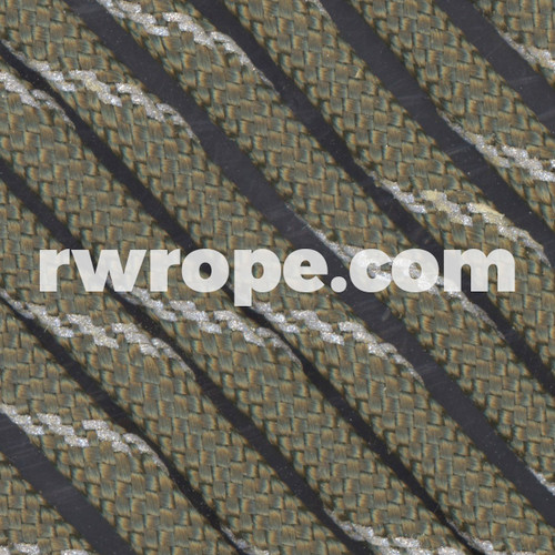 Paracord 550 in Olive Drab With Reflective Fleck