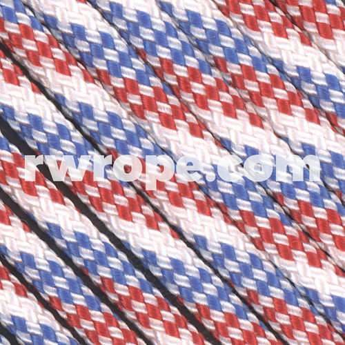 Paracord 550 in Red / White / Blue.