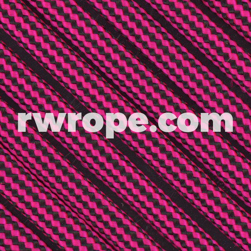 Paracord 550 in Neon Pink And Black Stripe