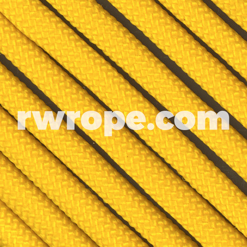 650 Flat Coreless Paracord in yellow.