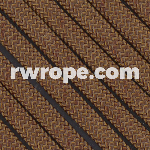 650 Flat Coreless Paracord in walnut.