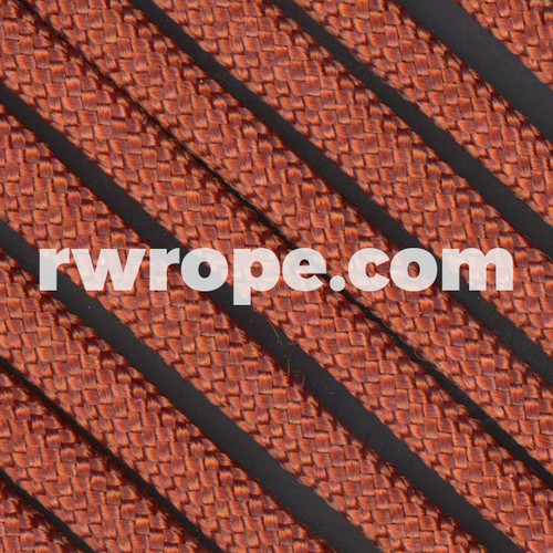 650 Flat Coreless Paracord in Rust.