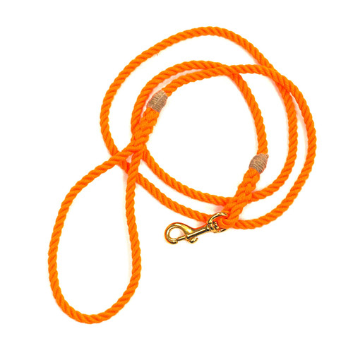 Langman Ropes P.O.S.H Dog Leash - Orange