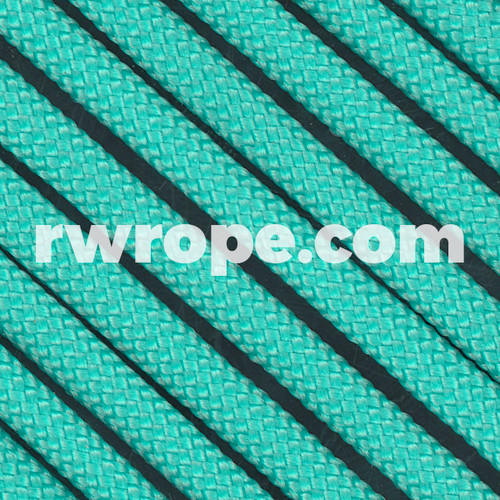650 Flat Coreless Paracord in Neon Turquoise