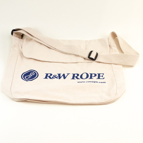 R&W Rope 100% cotton canvas satchel bag. 13 x 13 x 3.