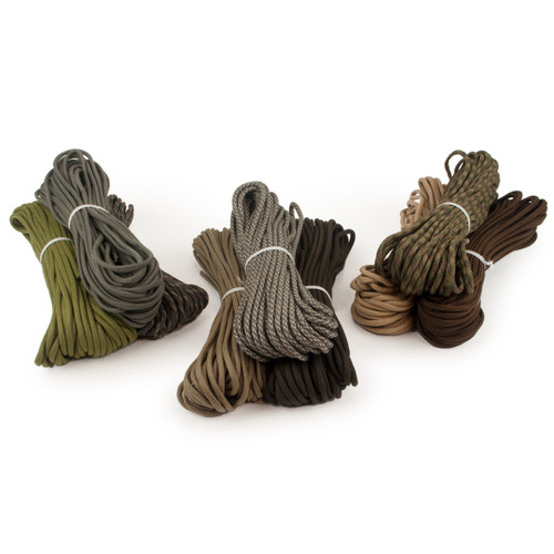 550 Paracord 3-pack, camo and dark. Save 30%