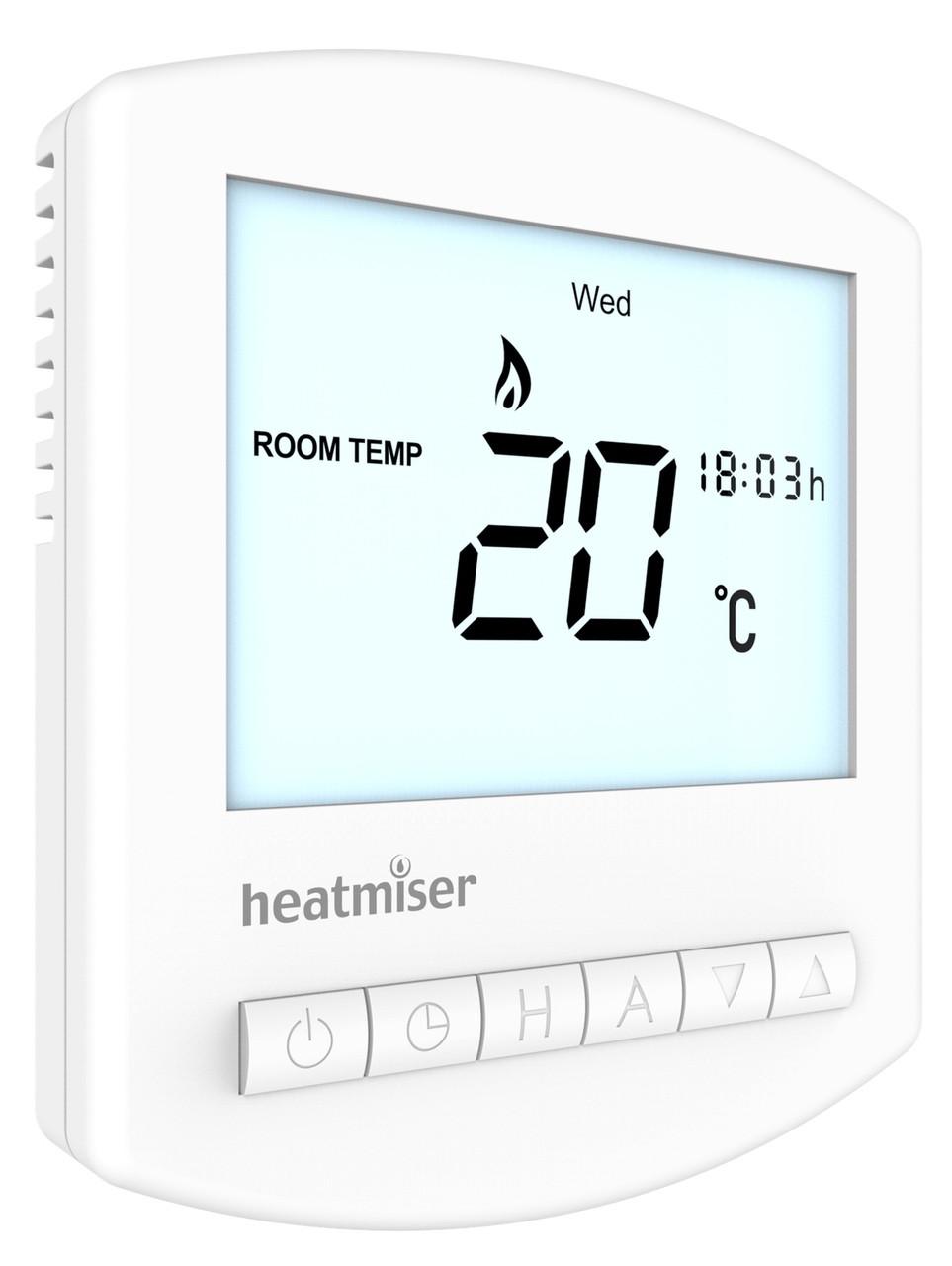 Programmable Room Thermostat Uk Manufacturer Wiring A Rf Digital Heatmiser Slimline V2