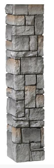 "DecKorators 42"" Cobblestone Post Sleeve Gray"