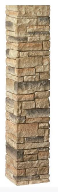 "DecKorators 42"" Stacked Stone Post Sleeve Beige"