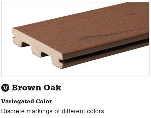TimberTech Terrain Brown Oak Grooved Decking