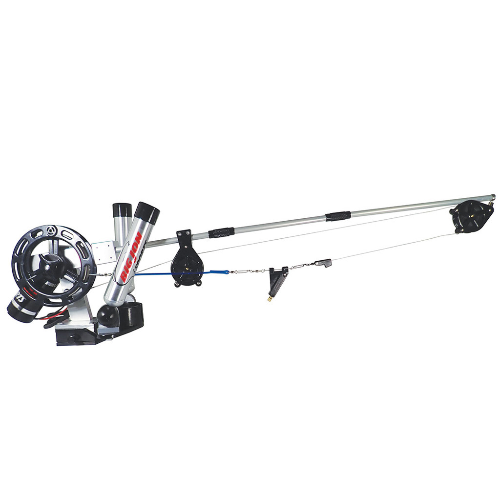 """Big Jon Sports designed and built the """"Brute ES"""" for the serious tournament fisherman. It will retrieve a 15 pound cannonball at 200 feet per minute and for those deep Kings, will retrieve cannonballs up to 25 pounds with ease. The Brute ES features a """"Momentary Switch"""" that allows precise depth control."""