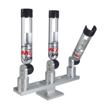 "Big Jon's Triple ""Quik-Draw"" Rod Holder Set is one of the newest rod holder designs on the market. It has been designed to allow the rod handle to clear the rod holder more quickly than other rod holder designs."
