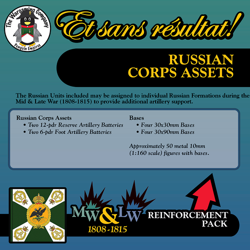 Russian Corps Assets (Mid-Late War) Reinforcement Pack