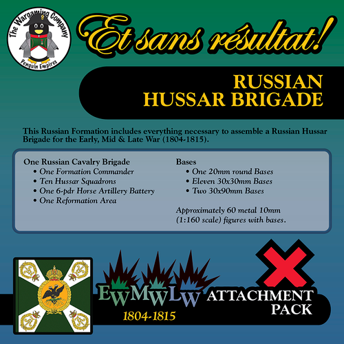 Russian Hussar Brigade (Mid-Late War) Attachment Pack