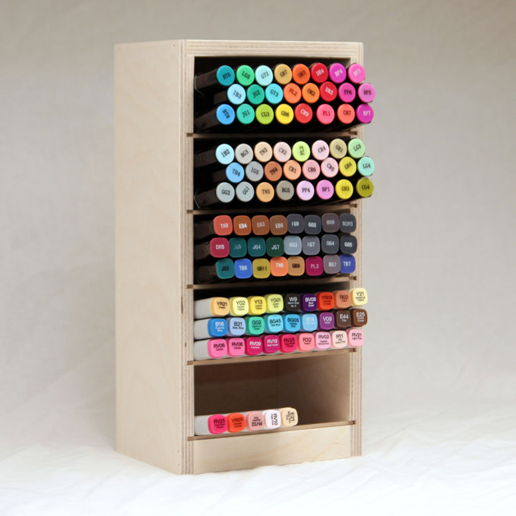 Marker Nooks make accessing your markers quite simple. Just grab the color you need and put it away when you're done!