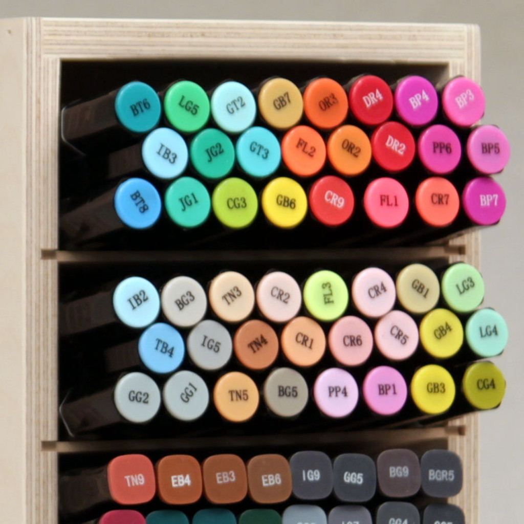 Look how beautiful your markers will look when stored in a Marker Nook!