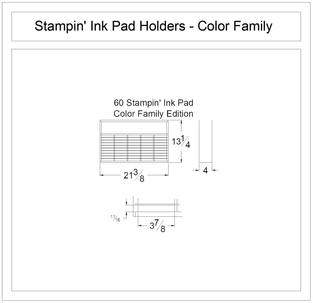 Stampin' Ink Pad Holder for Color Families