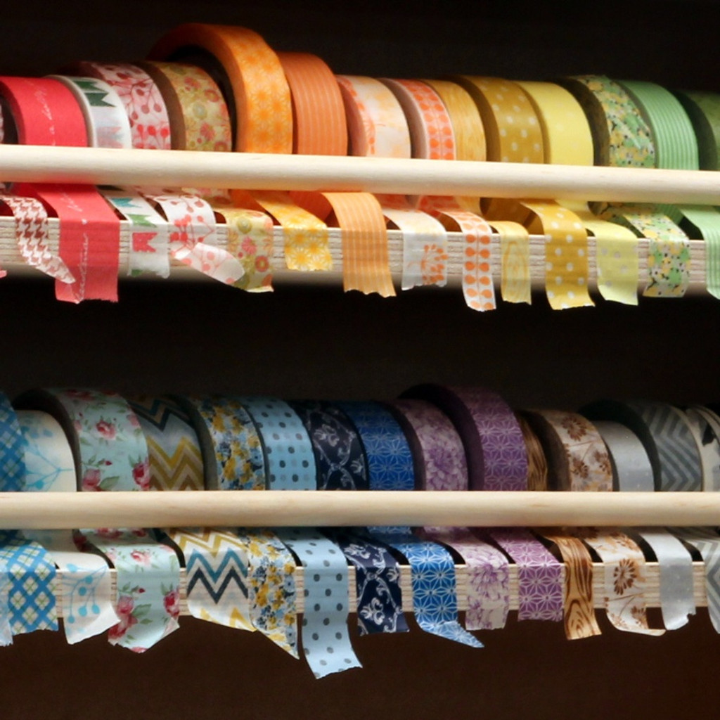 Look how pretty your washi tape collection will look in a Washi Tape Holder!