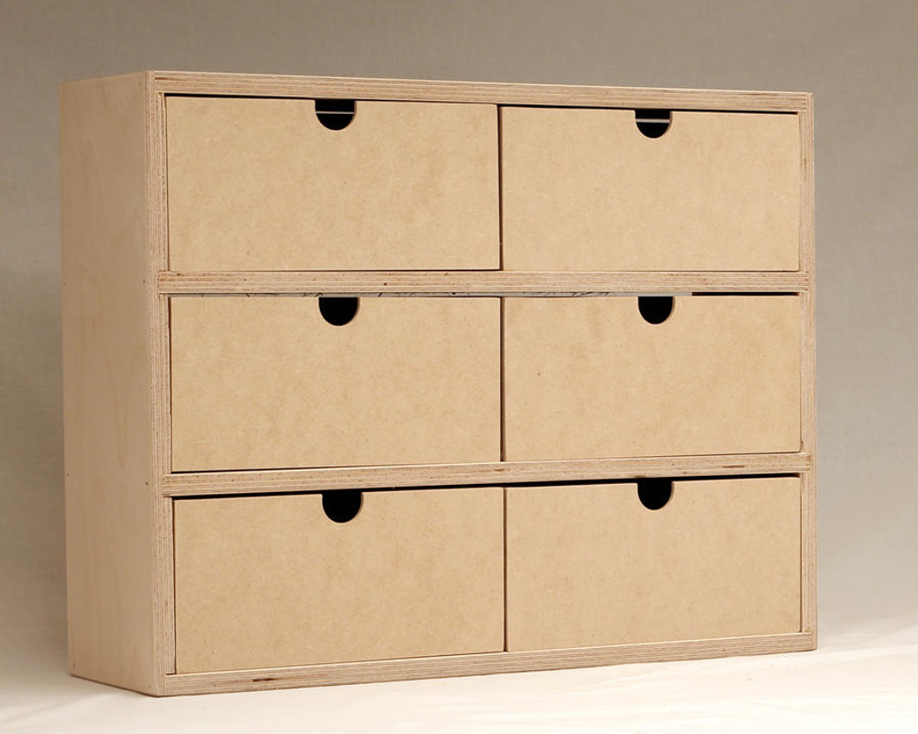 Six drawer storage stamp n storage for Cardboard drawers ikea