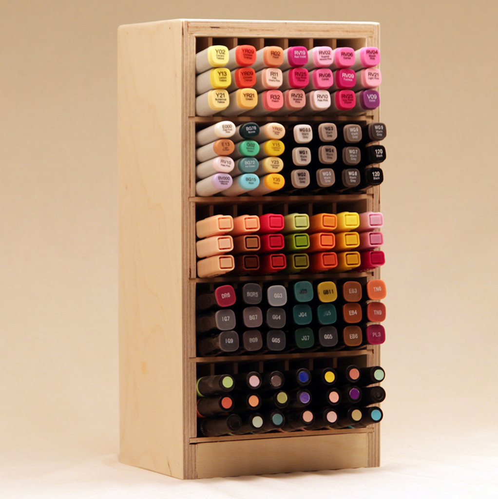 Stacked Marker Holders also fit inside of the IKEA® Kallax!