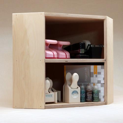 Craft tools organizer for corner desk