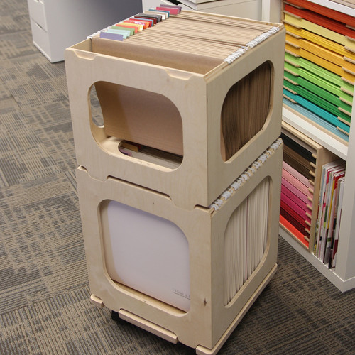 Paper crate for craft paper storage