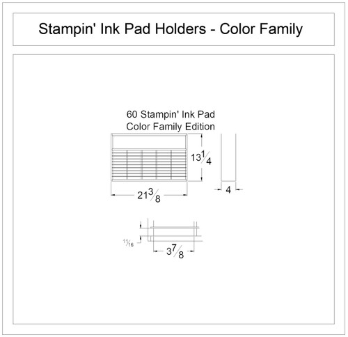 Craft room stamp ink pad storage for Stampin Up ink pads