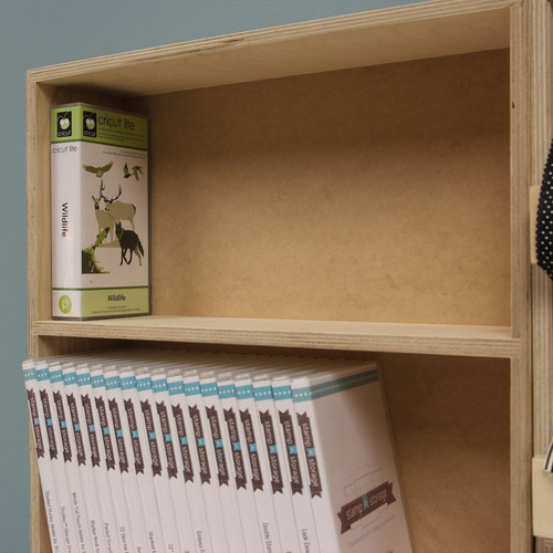 Desk storage for Cricut cartridges