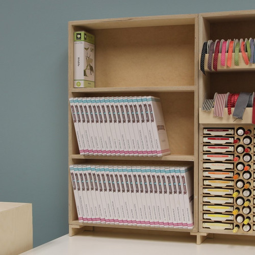 Craft room Cricut cartridge storage