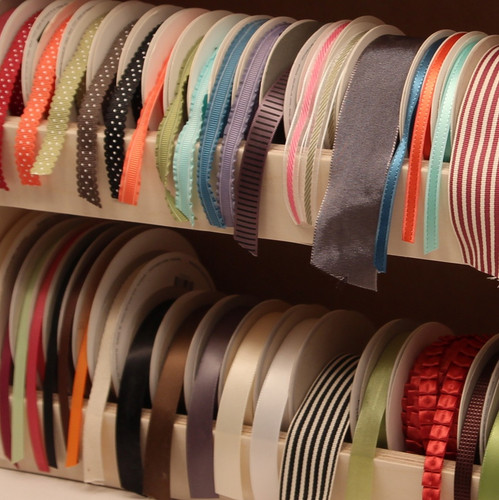 The Ribbon Shelf keeps your ribbon collection looking pretty!