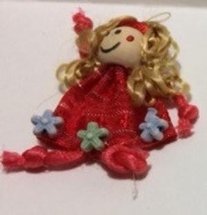 Dollhouse Miniature - 210610-6 - Raggedy Doll - Checker Dress