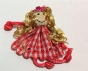 Dollhouse Miniature - 210610-1 - Raggedy Doll - Checker Dress