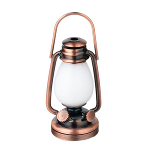 Dollhouse Miniature - HW 2342 - Battery LED - Oil Lamp Lantern/Copper