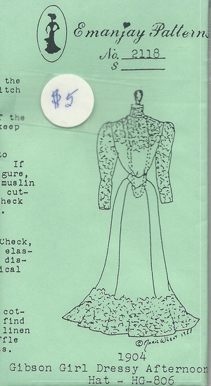 2118 - 1904 Gibson Girl Dressy Afternoon- Emanjay Sewing Pattern